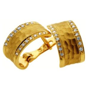 14k Gold and Diamond Earrings - Baltinester Jewelry