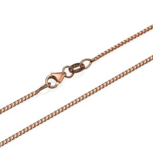 """14k Rose Gold Franco Chain 1.1mm 16-24"""" - Baltinester Jewelry"""