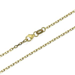 """Anchor Link Chain in 14k Yellow Gold 1.7mm 16-24"""" - Baltinester Jewelry"""