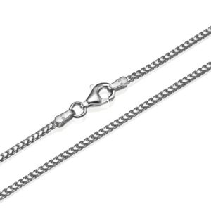 """Franco Chain in 14k White Gold 1.5mm 16-28"""" - Baltinester Jewelry"""