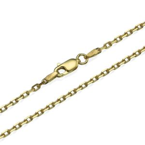 """Anchor Link Chain in 14k Yellow Gold 2.1mm 16-24"""" - Baltinester Jewelry"""