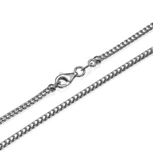 "Franco Chain in 14k White Gold 2mm 16-28"" - Baltinester Jewelry"