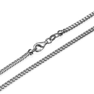 """Franco Chain in 14k White Gold 3mm 16-28"""" - Baltinester Jewelry"""