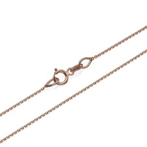 """Anchor Link Chain in 14k Rose Gold 0.9mm 16-24"""" - Baltinester Jewelry"""