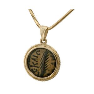 14K Gold Pruta Coin Pendant - Baltinester Jewelry