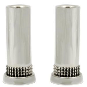 Silver Classic Beads Candle Holders - Baltinester Jewelry