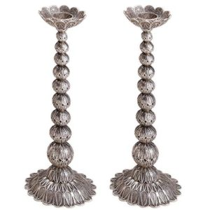 Filigree Knobs Silver Candle Holders - Baltinester Jewelry