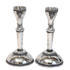 Sterling Silver Shabbat Candlesticks - Baltinester Jewelry