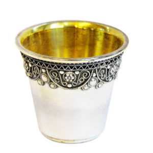 Silver Filigree Adorned Liqueur Cup - Baltinester Jewelry