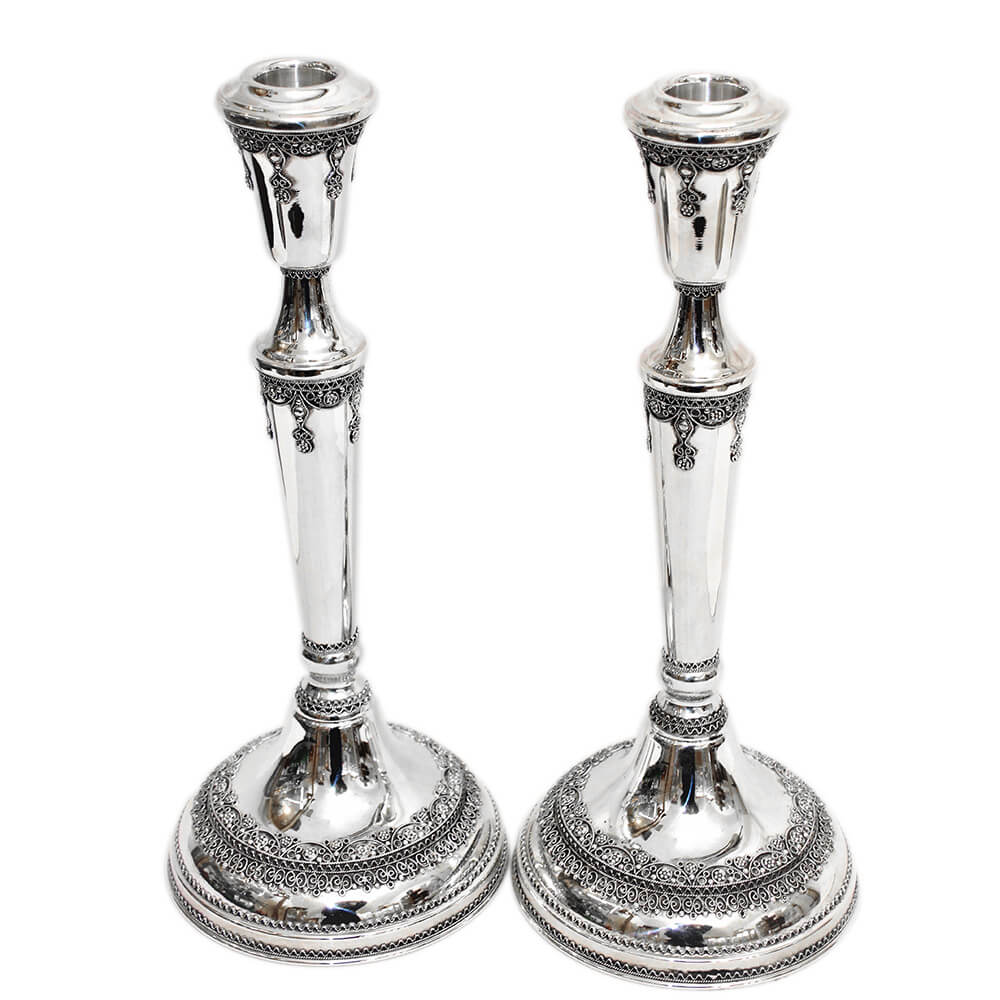 Traditional Sterling Silver Candlesticks - Baltinester Jewelry