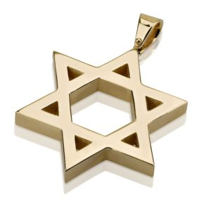 Classic Star of David Solid Gold Pendant - Baltinester Jewelry