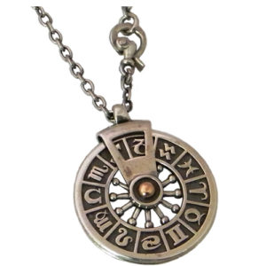 Silver and Gold Zodiac Necklace - Baltinester Jewelry