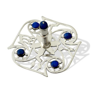 Contemporary Sterling Silver Gemstone Dreidel - Baltinester Jewelry