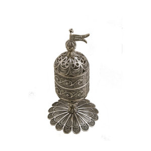 Cylindrical Sterling Silver Besamim for Havdala - Baltinester Jewelry