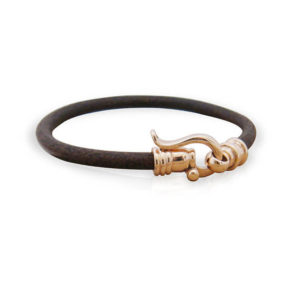 Gold and Leather Cord Bracelet - Baltinester Jewelry